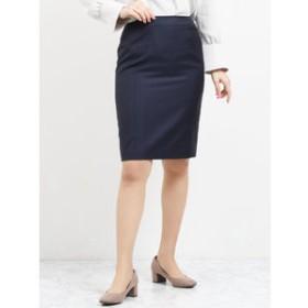 【TAKA-Q:スカート】レノマ ファム/renoma FEMME ウォッシャブルセットアップタイトスカート 紺チェック