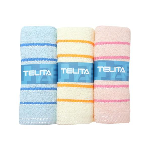 TELITA絲光橫紋毛巾3入【康是美】