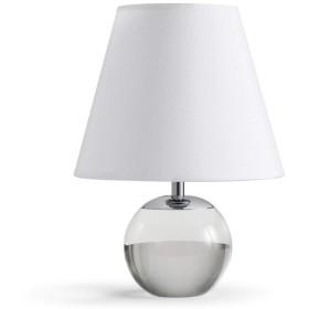 テーブルランプクリスタルボールベースファブリックランプシェード寝室リビングルームベッドサイドライトスタディ読書読書デスクランプ Ljwhcqyzyd (Color : LED white light)
