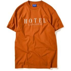 Lafayette ラファイエット HOTEL LOGO TEE 半袖 Tシャツ LFH19SS01 TEXAS ORANGE テキサスオレンジ ホテルロゴ TEXAS ORANGE S