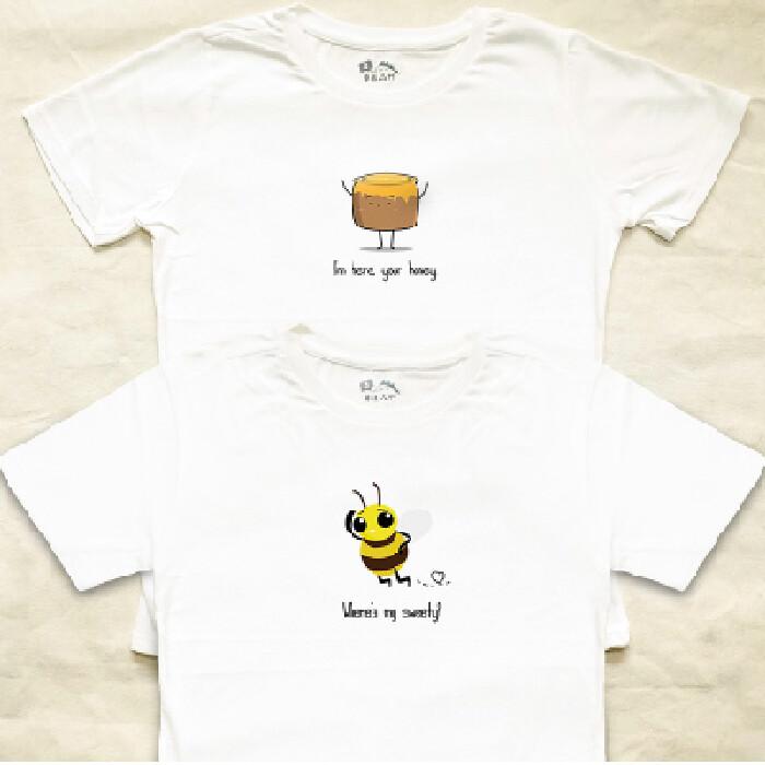 情侶裝尋覓我的哈尼 純棉t-shirt 插畫家手繪款