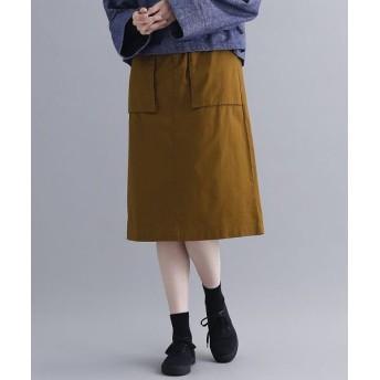 メルロー コットンツイルナロースカート レディース キャメル FREE 【merlot】
