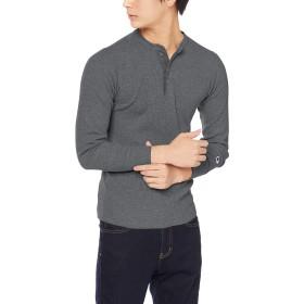 [チャンピオン] ヘンリーネックロングスリーブTシャツ C3-Q406 メンズ ヘザーチャコール 日本 M (日本サイズM相当)