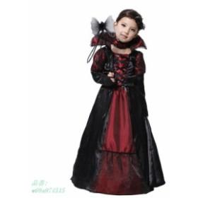 ハロウィン 衣装 仮装 バンパイア コスプレ ドレス キッズ 子供 ハロウィーン ワンピース ドラキュラ 魔女 吸血鬼 クリスマス コスチュー
