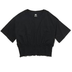 【30%OFF】 リーバイス スモックドTシャツ MINERAL BLACK レディース BLACKS S- 【Levi's】 【セール開催中】