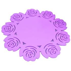 EGROON PVC製 円形 マット テーブルマット コースター テーブルクロス プレースマット ランチョンマット (本体8枚)