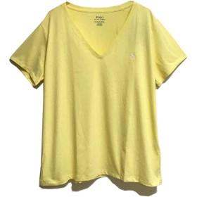 (ラルフローレン) POLO RALPH LAUREN コットン ソリッド Vネック Tシャツ (L, BANANA PEE/WHITE) [並行輸入品]