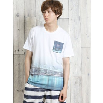 【semantic design:トップス】ライトフォース/LIGHTFORCE ポケット付き昇華クルーネック半袖Tシャツ
