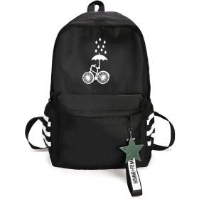 プリントキャンバスバックパック小さな新鮮な文学ファン学生に適した学生旅行アウトドアスクールバッグ