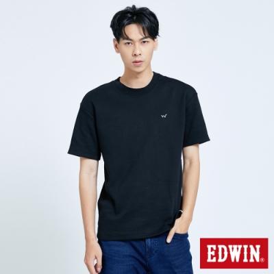 EDWIN EFS厚磅寬版短袖T恤-男-黑色
