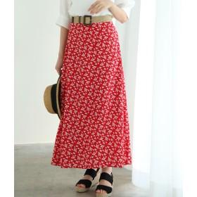 ViS(ビス)/単色花柄プリントマーメイドスカート