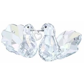 スワロフスキー キジバト 愛の鳥たち 置物 1143415 Swarovski Love Turtledoves □