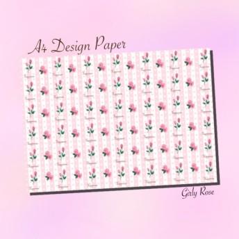 A4 デザインペーパー Girly Rose