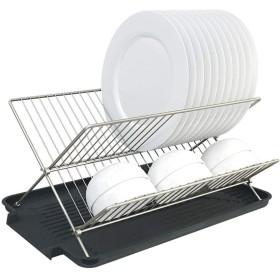 SHYPwM 食器棚収納ラックキッチン折りたたみ排水ラック箸スプーンフィルターウォーターボトルドライ排水ラック