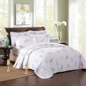 キルトベッドスプレッド ダブル キングサイズ 230 cm X 250 cm 100% コットン 刺繍 キルト ベッドカバー 3ピース 夏用寝具セット 230cm250cm 11018