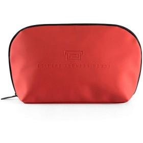 化粧ポーチ メイクポーチ ミニ 財布 機能的 大容量 化粧品収納 小物入れ 普段使い 出張 旅行 メイク ブラシ バッグ 化粧バッグ (レッド)