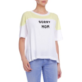 【76%OFF】Sorry Mom カラーブロック Tシャツ クリーンホワイト/イエローグロー s
