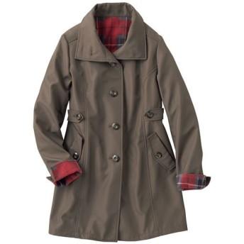 【レディース】 裏フリースボンディングコート(撥水・手洗いOK) - セシール ■カラー:オリーブブラウン ■サイズ:M,L