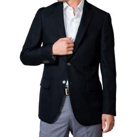 ブレザー ジャケット 紺ブレ メンズ ビジネス 大きいサイズ ボタン ネイビー ブラック 無地 柄 定番 秋 冬 (黒,994,AB7)