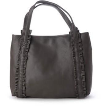 【BRONTIBAYPARIS:バッグ】本革 フリルハンドバッグ