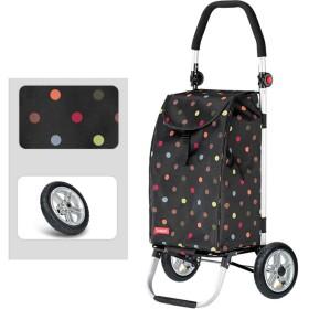 折り畳み可能 ユーティリティカート ショッピングカート 更新版 食料品ショッピングカート 収納ボックス 膨脹可能なゴム製タイヤを使って 調整可能なハンドル,Origin