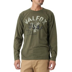 ロンT 長袖Tシャツ クルーネック ロングTシャツ T-GRAPHICS ティーグラフィックス プリントTシャツ EJ185-MC116 メンズ カーキ:L