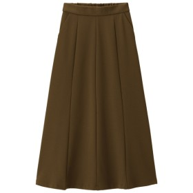 (GU)フレアロングスカート BROWN S