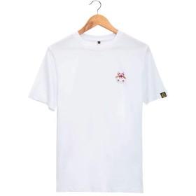 Hachiyarina 陰陽師風 占位小鬼 公式サイトグッズ トップス 綿 無地 カップル メンズ レディース Tシャツ 半袖 無地 原宿風 ゆったり おしゃれ おおきいサイズ 涼しい 部屋着 普段着