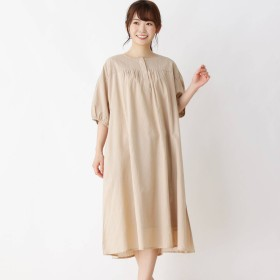 3can4on(Ladies)(サンカンシオン:レディース)/刺繍切り替えロングワンピース