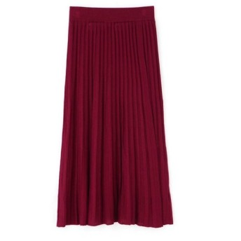 HUMAN WOMAN ヒューマンウーマン / 《arrive paris》巻きニットプリーツスカート