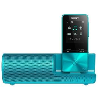 【中古】SONYウォークマン Sシリーズ スピーカー付属 NW-S313K ブルー/4GB