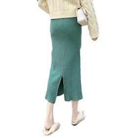 ニットスカート女性ミディアムロングバッグヒップスカートハイウエストステップスカート,ダークグレー,ワンサイズ