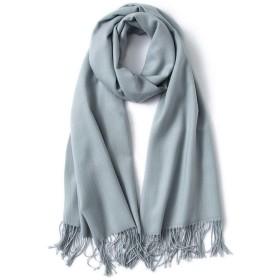 BALLEEY 女性のスカーフヨーロッパとアメリカのスタイルのカシミヤ無地暖かいショールデュアルスカーフマルチファンクションネッカチーフソフトシルクシーサイド日焼け止めショールラージソリッドソフト快適なサテンのヘッドスカーフ (色 : グレー, サイズ : 200cm70cm)