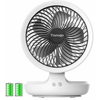 【新品】USB扇風機 Toyuugo 自動首振りミニ扇風機 卓上 USBファン 静音 4段階風量 小型 呼吸ランプ USB充電式 パワフル 多機能扇風機 折
