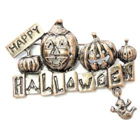 Faship Happyハロウィンかぼちゃピンブローチゴースト