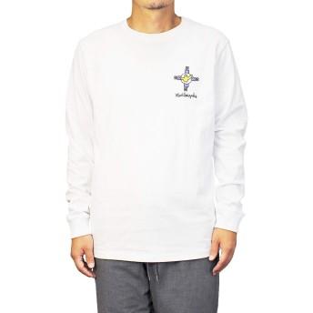 [Mark Gonzales] ロンT マークゴンザレス メンズ クロス (Large, ホワイト)