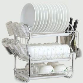 3層排水皿ラック多機能皿排水器キッチンラック,white3a