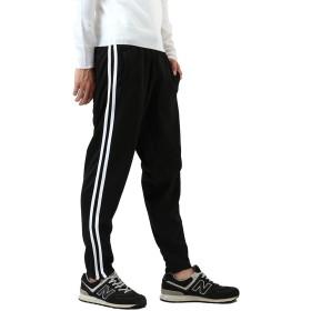 [REPIDO (リピード)] ジャージ パンツ メンズ レディース 2ライン スキニー ランニングウェア トラックパンツ ブラック2ラインSK(裾ZIP) Lサイズ