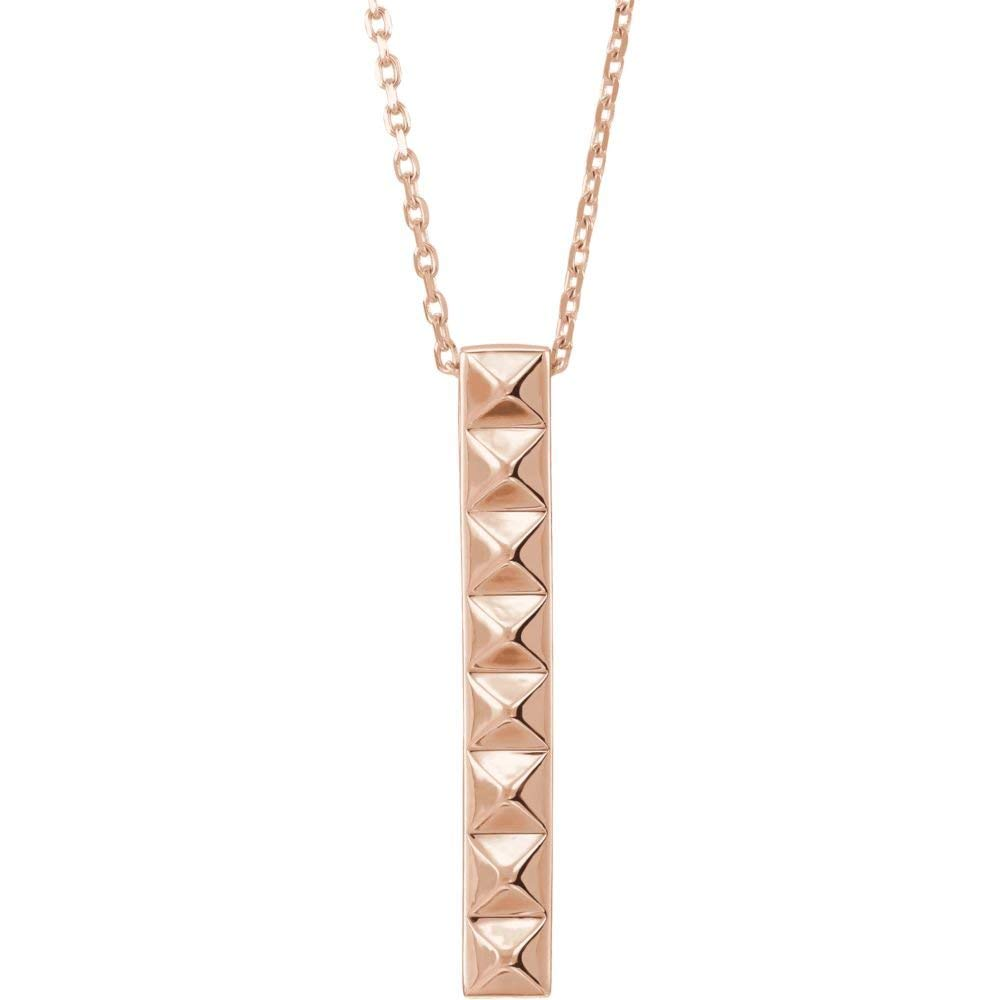 Jewels By Lux 14K Rose Gold Triangle Pendant