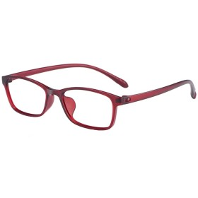 老眼鏡、ファッションレディー読書眼鏡(赤/紫)すべてのプラスチックねじなしフレーム、超軽量TR90デザイン、透明眼鏡(+ 2.0 / + 2.25 / + 2.50)