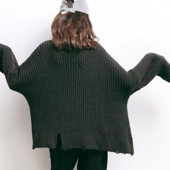 ニット・セーター - argo-tokyo 11/30NEW!【ARGO TOKYO】ダメージタートルネックニット ダメージ タートル ニット トップス セーター 秋冬 韓国ファッション