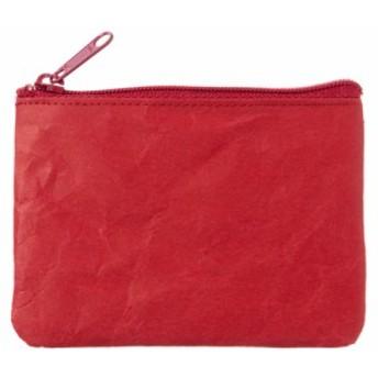 SIWA|紙和 コインケース wide レッド 破れにくい紙・ナオロン製小銭入れ 山梨県の工芸品 Durable paper coin purse