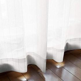 【1枚】外から見えにくい ミラーレースカーテン UVカット率74.8% ホワイト☆幅200×丈176cm☆Wisper-200-176WH