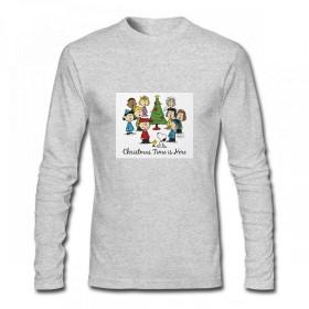 トップス ピーナッツギャング:クリスマスはここにいる Men Long Sleeve T-Shirt メンズ Tシャツ