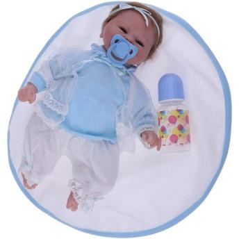 Prettyia 本物そっくり 18インチ リボーンドール ビニールシリコン 新生児 ベビードール キッズ 睡眠 おもちゃ クリエイティブ 誕生日 結婚式 ギフト