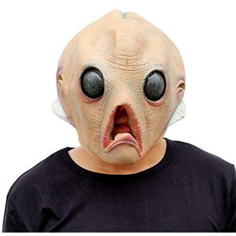 SZSMART ハロウィン 仮面 マスク お面 宇宙人 かぶり物 娯楽マスク 夏祭り仮面文化祭 学園祭 仮装 同窓会 変装 パーティー コスプレ 娯楽道具 大人 子供