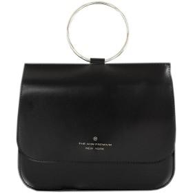 [韓国ブランド] Korea Brand 韓国ファッション女性 Slim O Ring Mini ミニトートハンドバッグクロスバッグ (Slim O Ring Mini Tote Handbags Cross Body Bag) (ブラック(Black)) [並行輸入品]