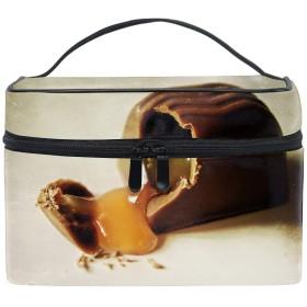 コスメポーチ 化粧品収納バッグ 洗面用具 おしゃれチョコレートキャンディスタッフィングスイートその他