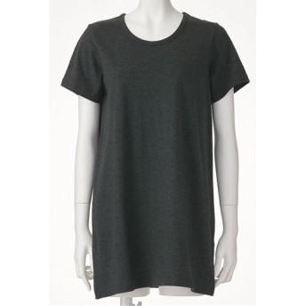 【レディース】 型崩れしにくいSZTシャツ 半袖Aラインタイプ - セシール ■カラー:チャコールグレー(杢) ■サイズ:M,L,LL,3L,5L