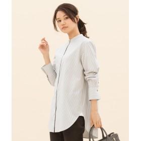 23区(ニジュウサンク)/【マガジン掲載】CANCLINI スタンドカラーストライプシャツ